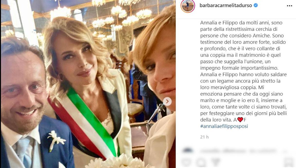 Barbara d'Urso su Instagram