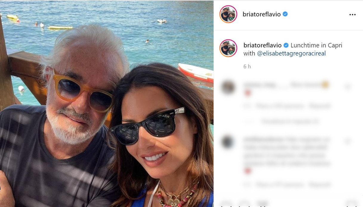 Elisabetta Gregoraci e Flavio Briatore su Instagram