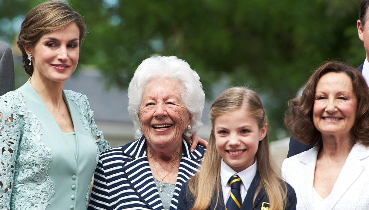 Letizia di Spagna nonna Menchu