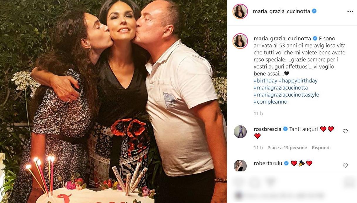 Maria Grazia Cucinotta su Instagram