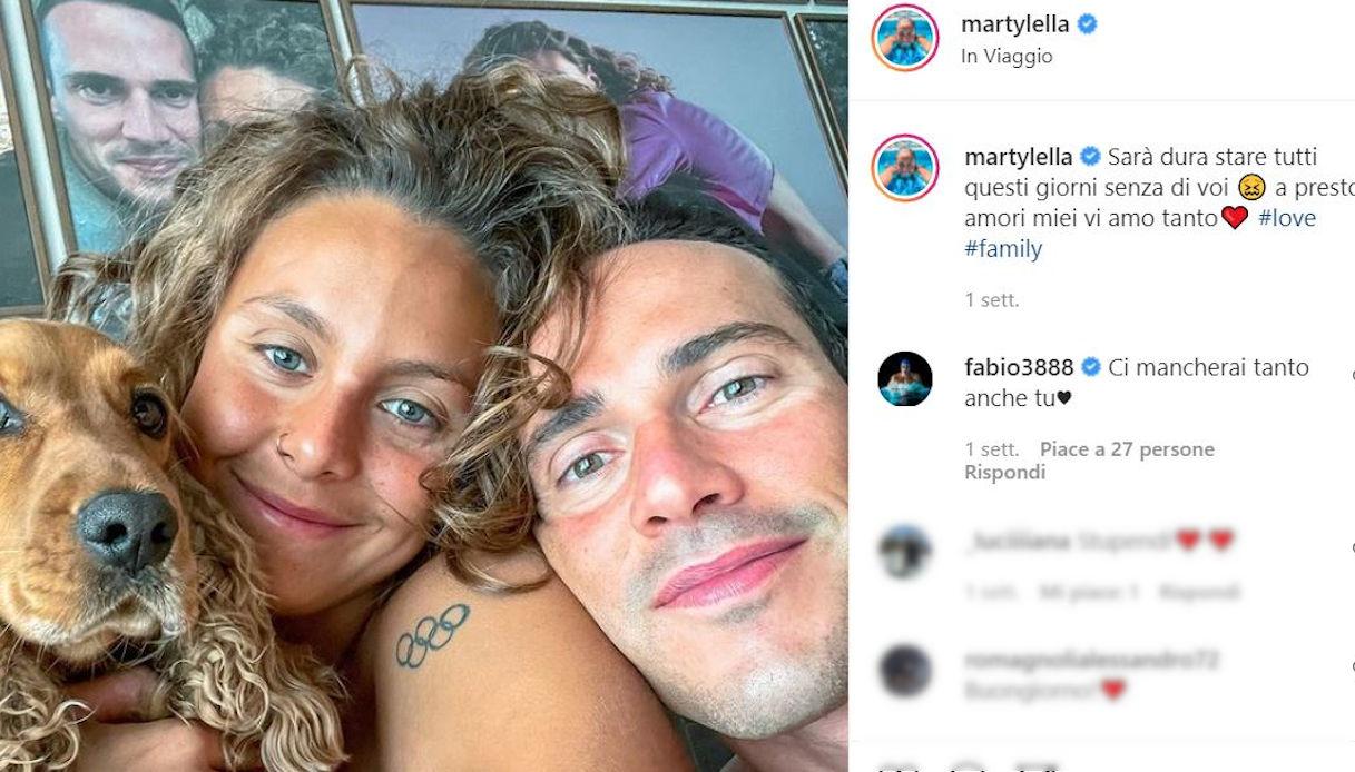 Martina Carraro e Fabio Scozzoli su Instagram
