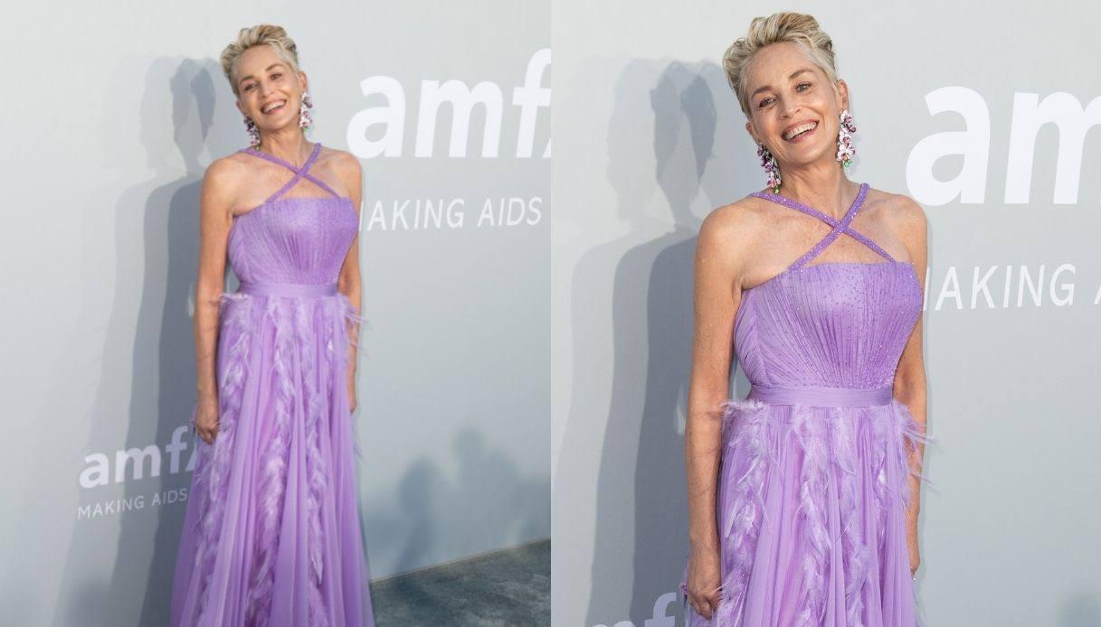 Sharon Stone amfAR Gala 2021