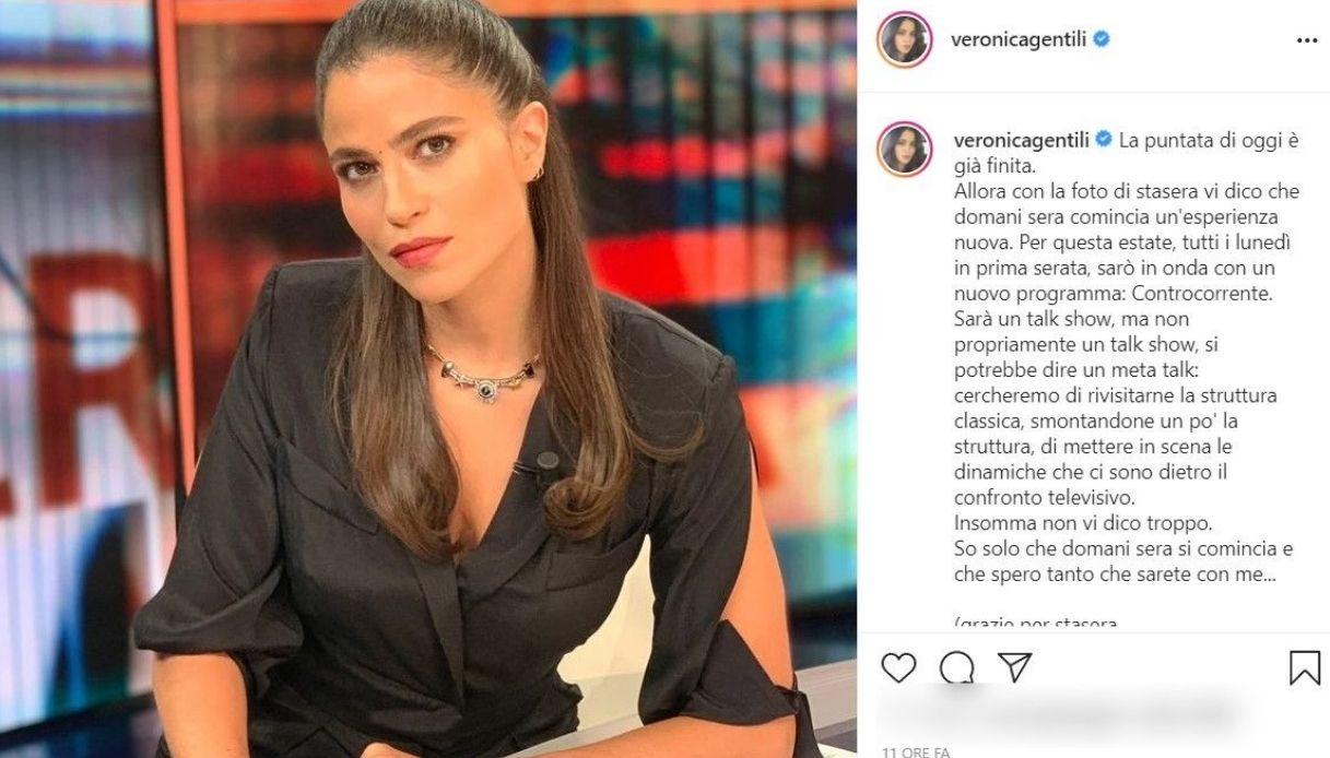 Veronica Gentili, il post su Instagram