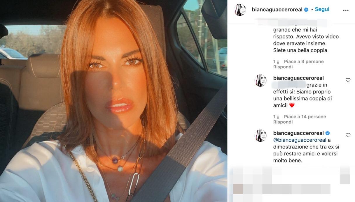 Bianca Guaccero post Instagram