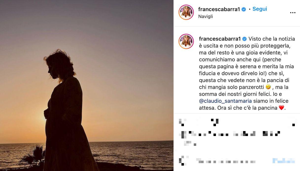 Francesca Barra incinta