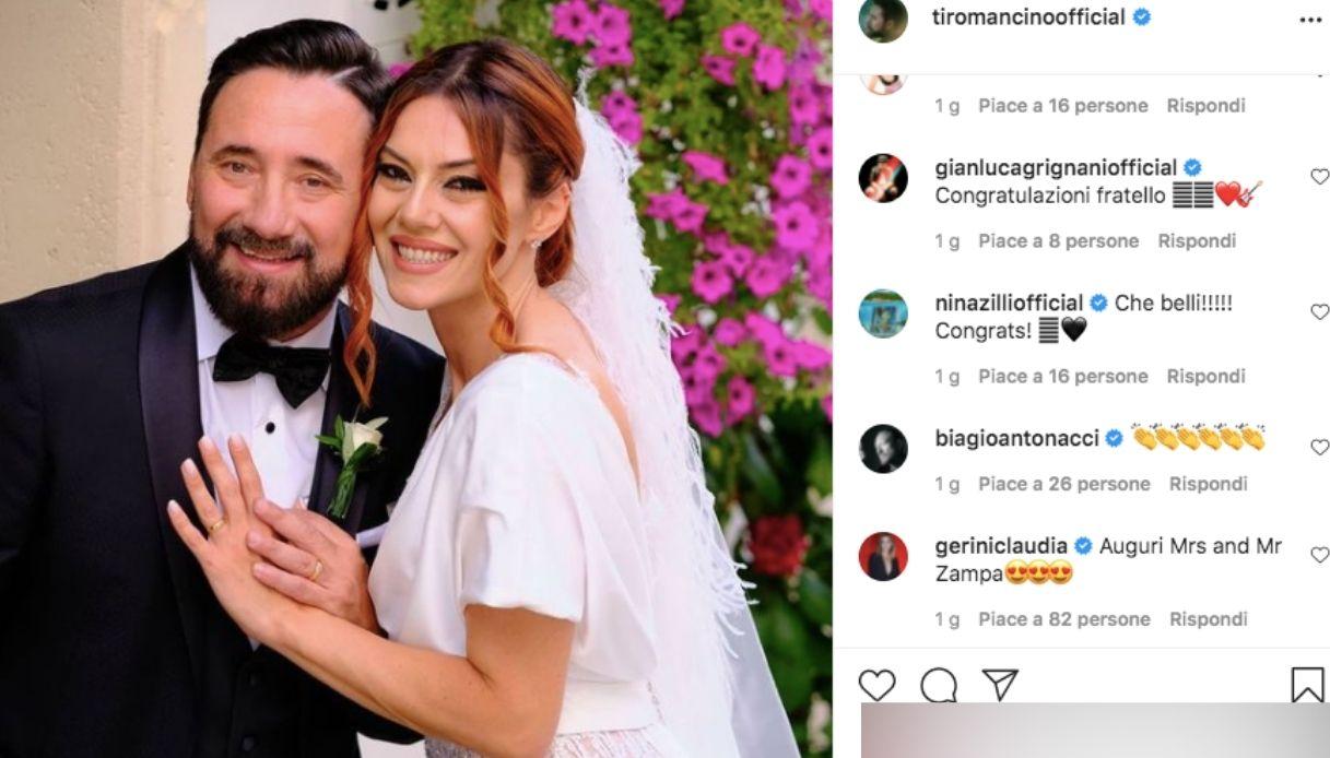 Il commento d Claudia Gerini alle nozze di Zampaglione e Gilda Marra