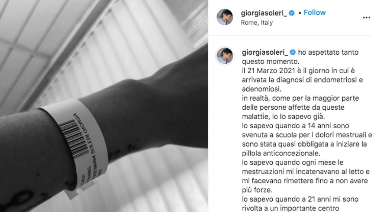 Il post di Giorgia Soleri