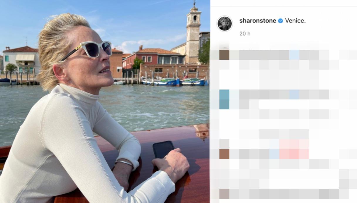 Sharon Stone a Venezia