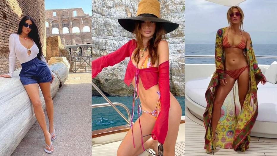 """""""La dolce vita"""" delle celeb che hanno scelto l'Italia per le vacanze"""