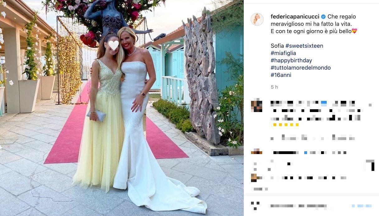 Federica Panicucci festeggia la figlia Sofia