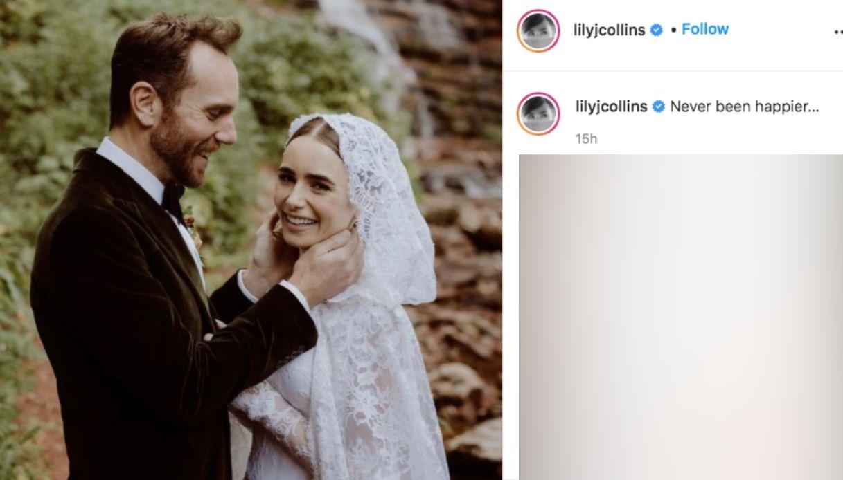 Le nozze di Lily Collins