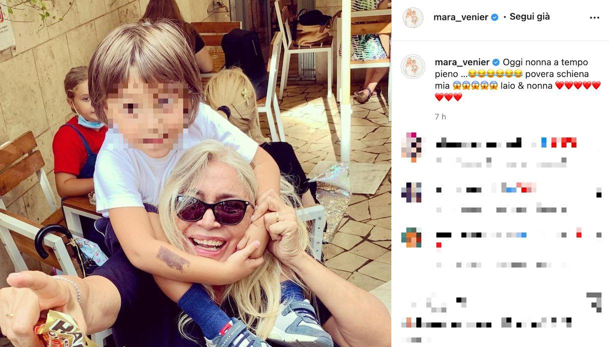 Mara Venier, momenti di relax con il nipotino Claudio