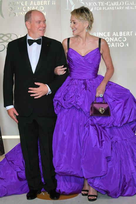 Sharon Stone Alberto di Monaco gala
