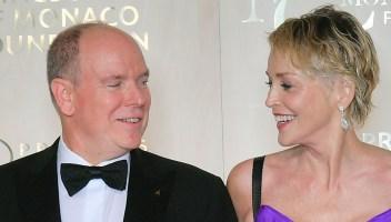 Charlene di Monaco lontana, Alberto al ballo con Sharon Stone