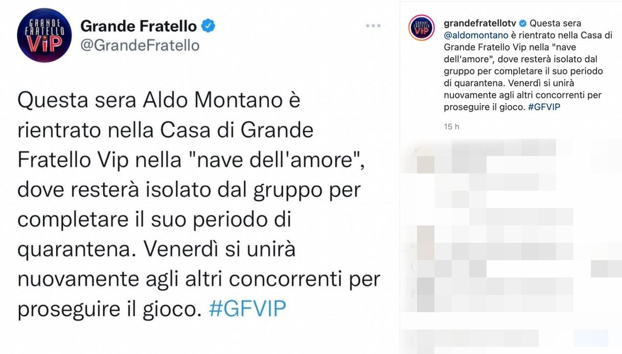 Aldo Montano post GF Vip