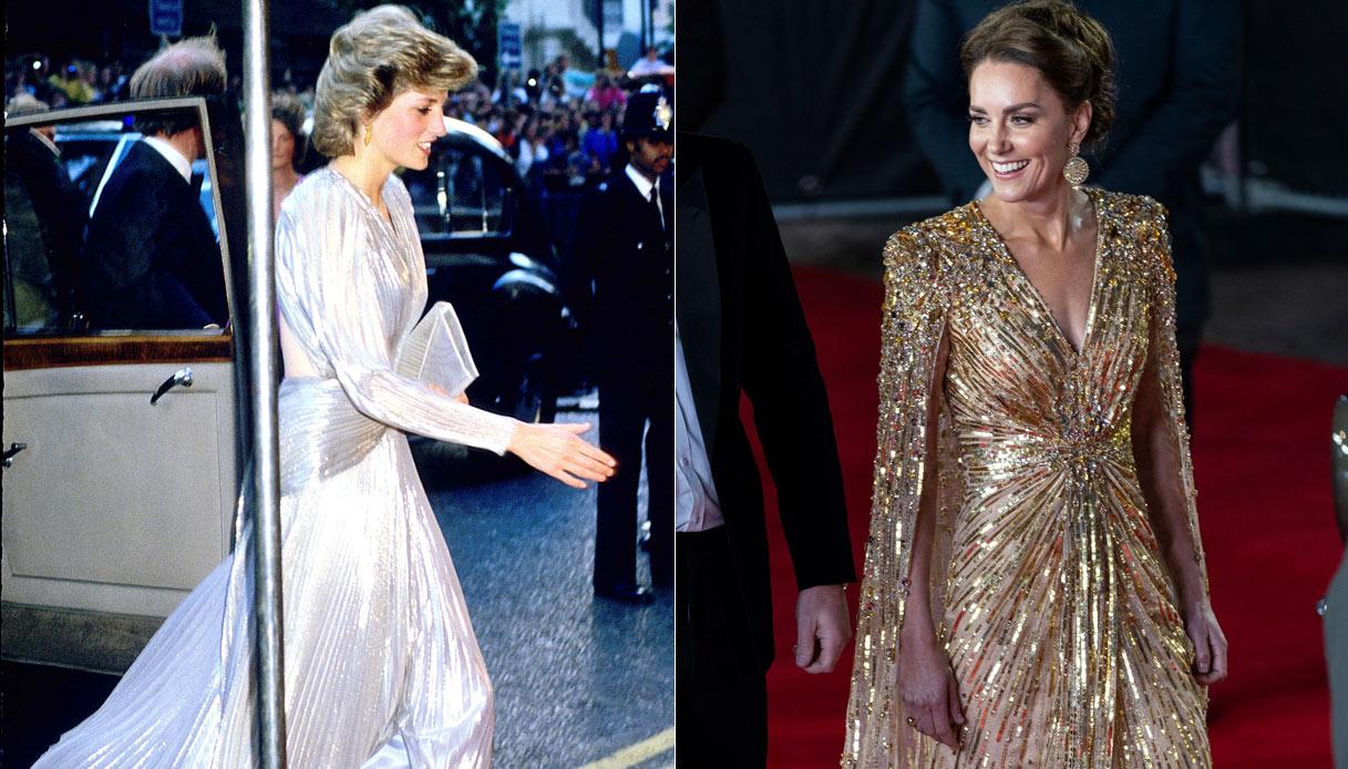 Lady Diana Kate Middleton look metal