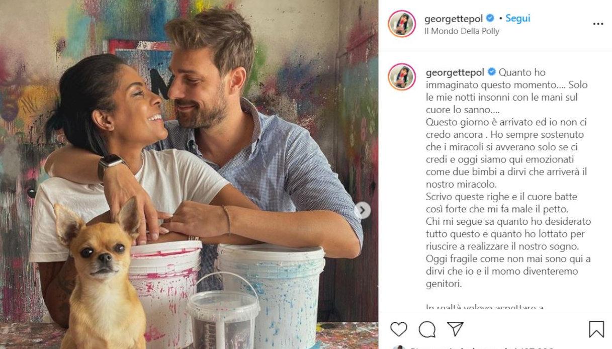 Georgette Polizzi il post su Instagram