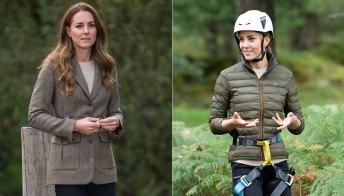 Kate Middleton, dal piumino al blazer in principe di Galles