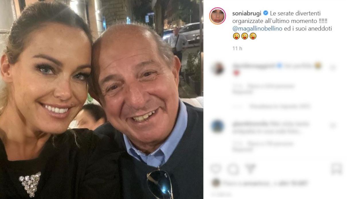 Sonia Bruganelli e Giancarlo Magalli su Instagram