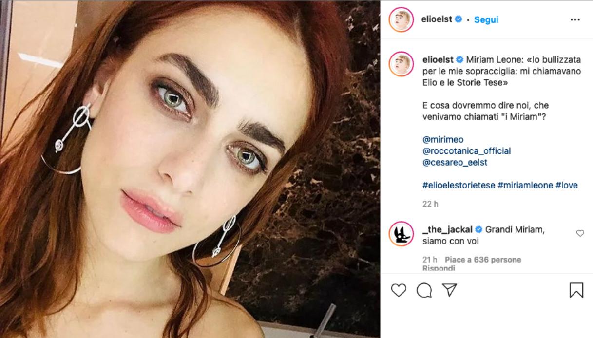 Miriam Leone post Elio