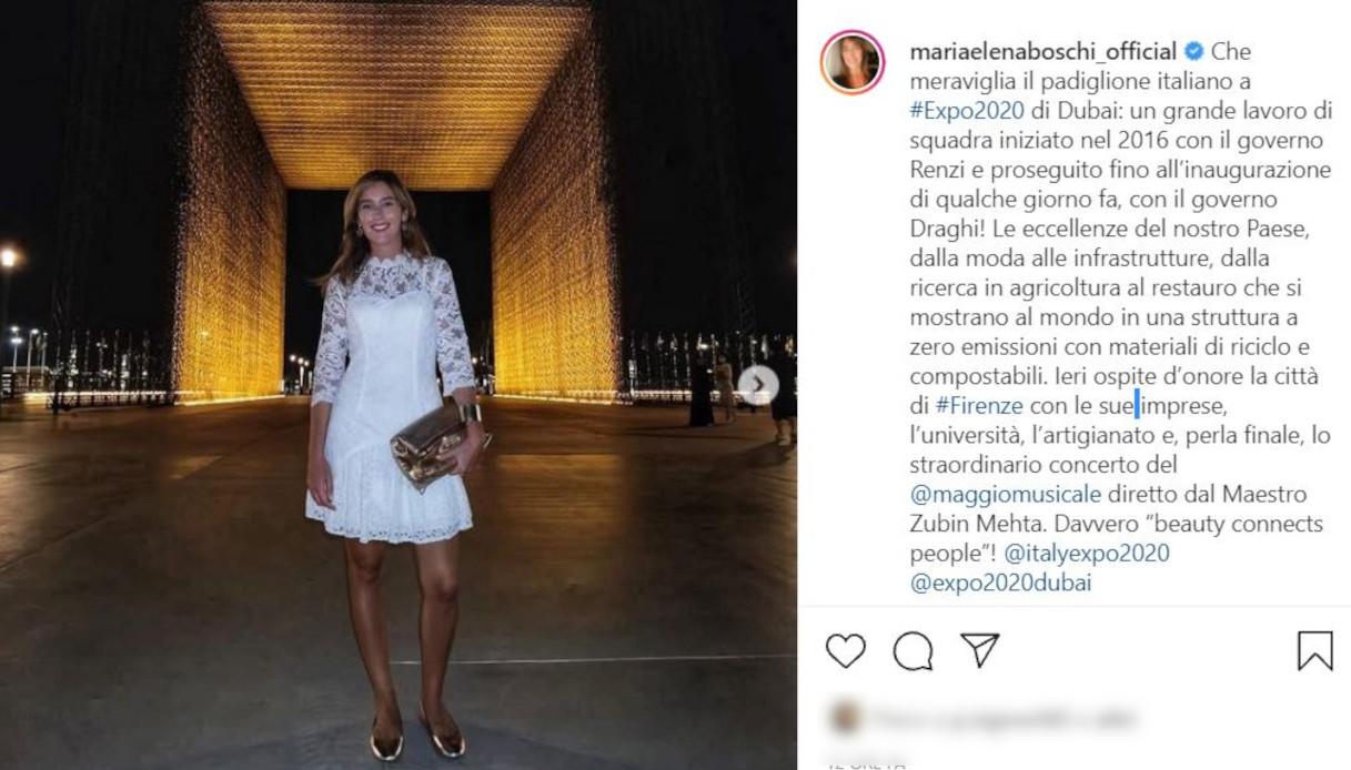 Maria Elena Boschi su Instagram